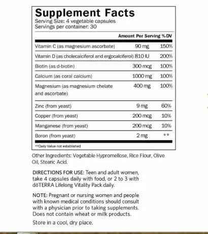 Bone nutrient complex - Dinh dưỡng cho xương khớp dành cho phụ nữ